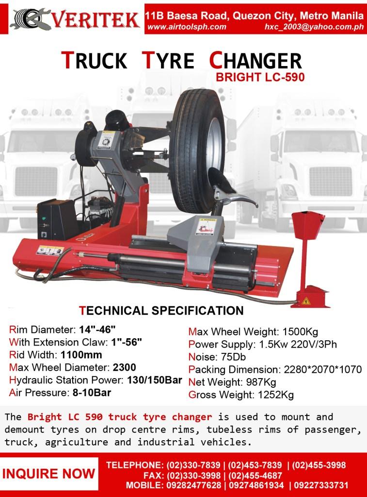 Bright LC-590 Truck Tire Changer Machine