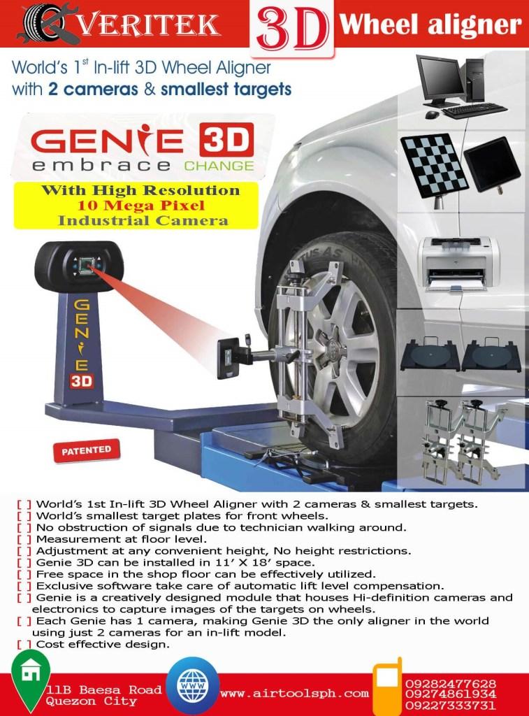 Veritek Genie In-Lift 3D Wheel Aligner System