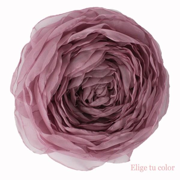flor de organza 15 cm