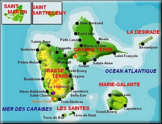 l archipel de guadeloupe et ses 6 iles
