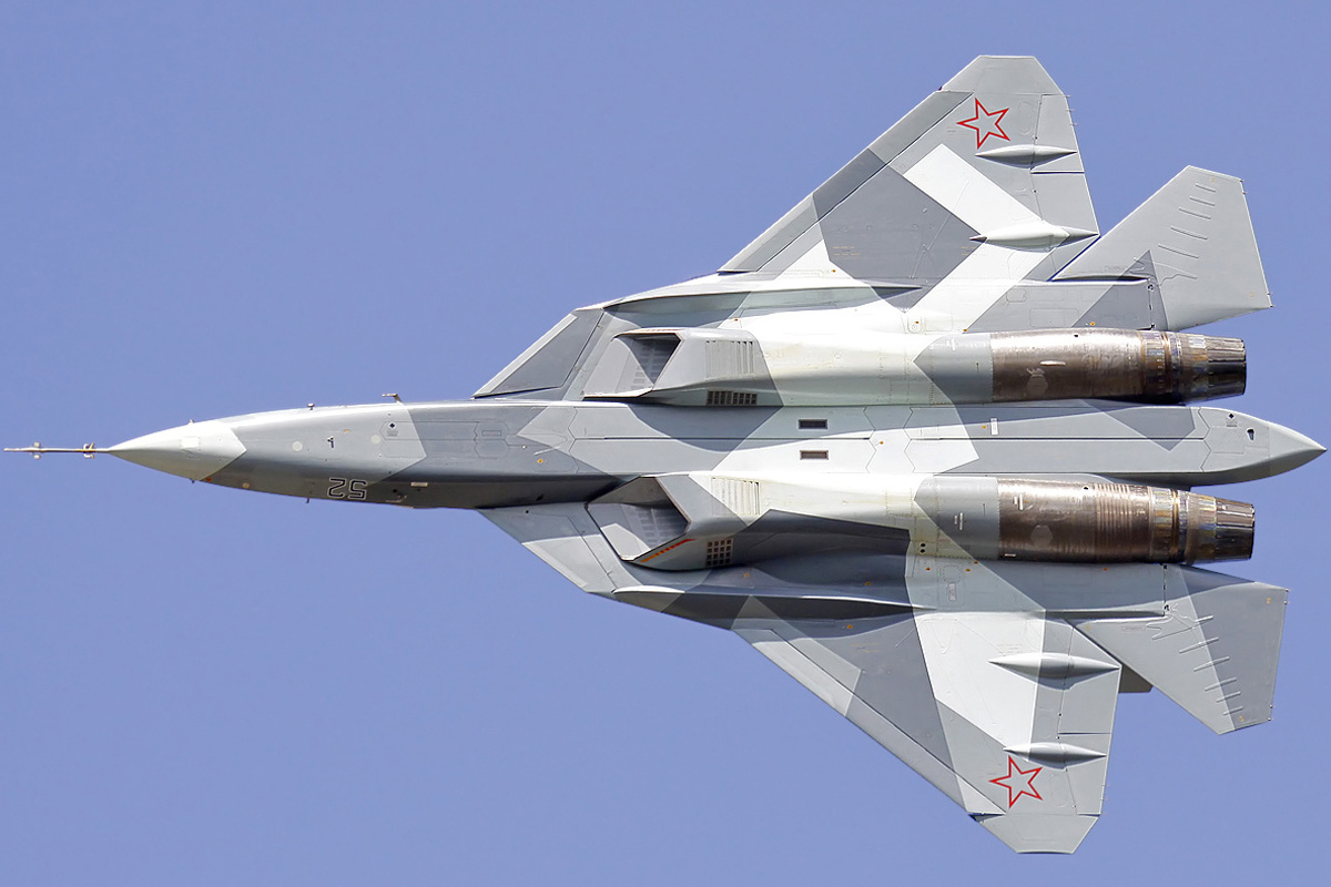 Nice web page about Russian Su-57 stealth(ish) fighter