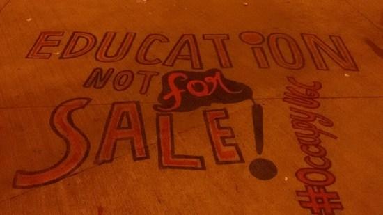 Graffiti inside UGC Premises