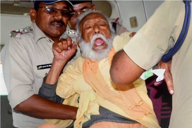 G.D Agarwal forcibly taken to hospital by police