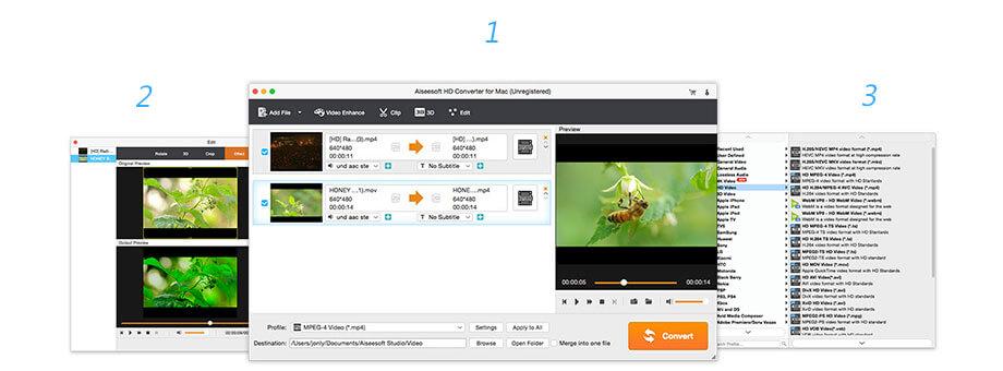 Aiseesoft HD Converter 9.2.8 Mac 破解版 专业高清视频转换工具