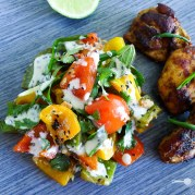 Camabodian Cooking Grilled Capsicum Salad with Sesame Dressing