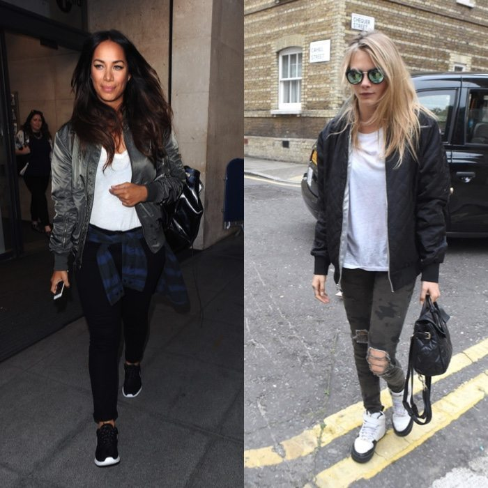 Bomber celebrities outfits