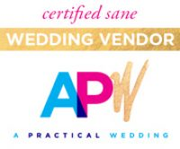 Aisle Less Traveled featured on A Practical Wedding Blog as a Certified Sane Wedding Vendor