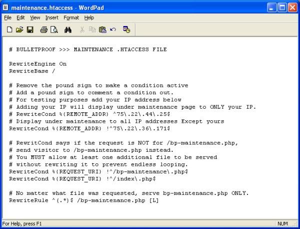 WordPress BulletProof Security Screenshots – .htaccess ...