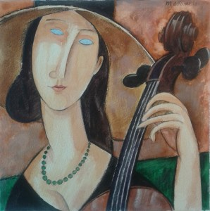 Cello Specialists - Modigliani cellist by Michael Edwards