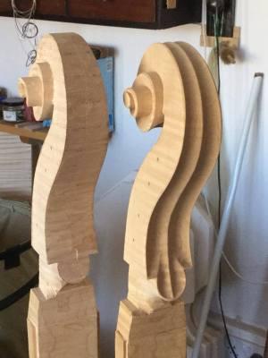 Montagnana scrolls by Robin Aitchison