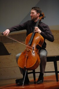 Christopher Murray cellist, owner of a Robin Aitchison cello