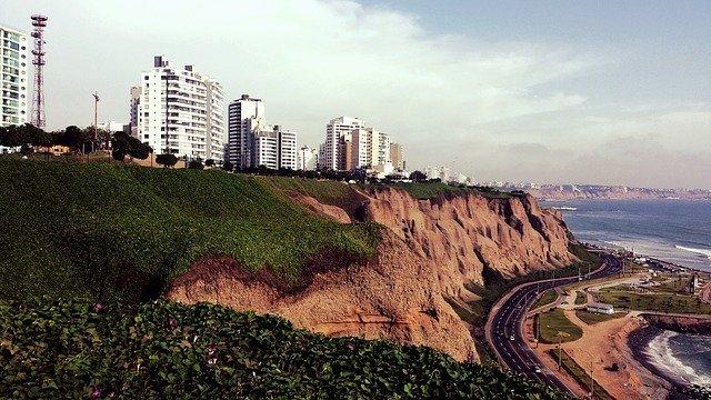 lima peru south america miraflores coastline