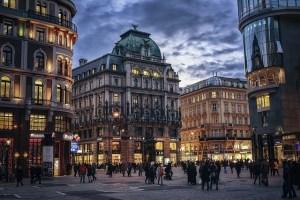 Vienna Austria Evening image