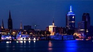 Hamburg Sandtorhoeft Blue Port Germany image