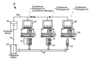 This particular invention used a new architecture and method to manage teleconferences by including a recording system