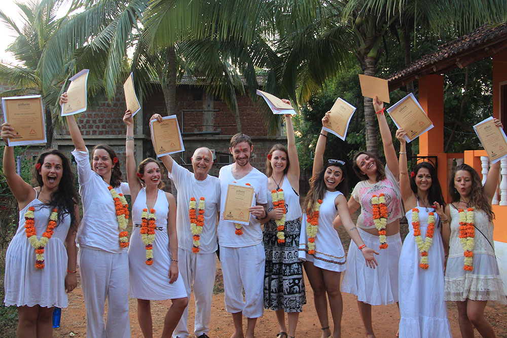 Aithein Ayurveda Massage School in Goa, India - Certification Day