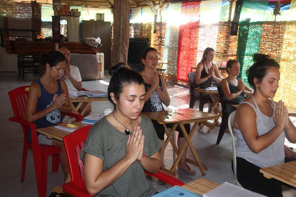 Aithein Ayurveda Massage School in Goa, India - Morning Mantra Chanting