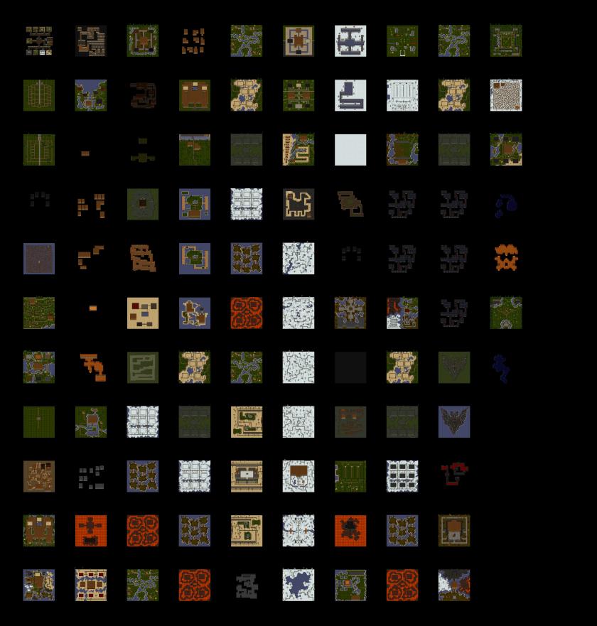 Composición con todos los mapas fuera de los mundos