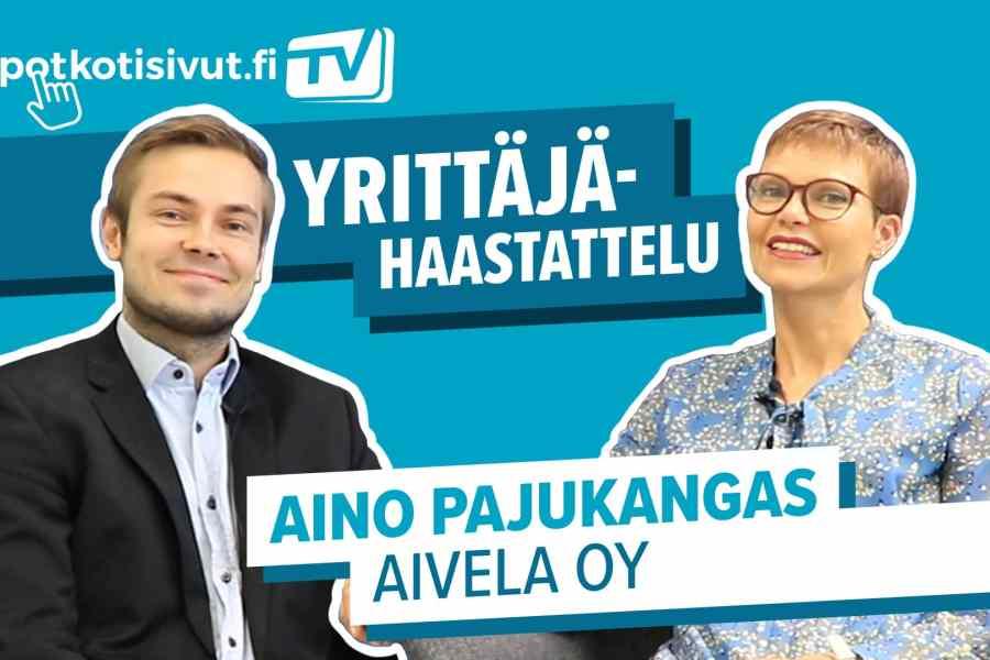 Aivelan Aino Pajukangas videohaastattelussa