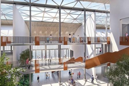 Intérieur Hangar 1 projeté © Port de Trois-Rivières