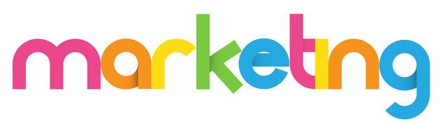 Colourful MARKETING icon