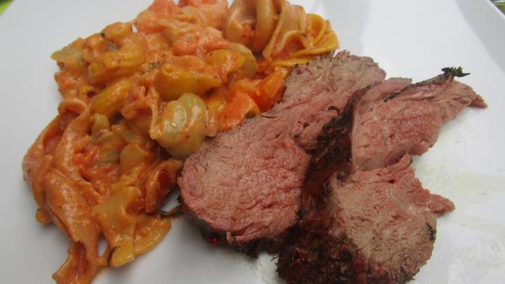 Argentinisches Rinderfilet und Papaya-Pasta