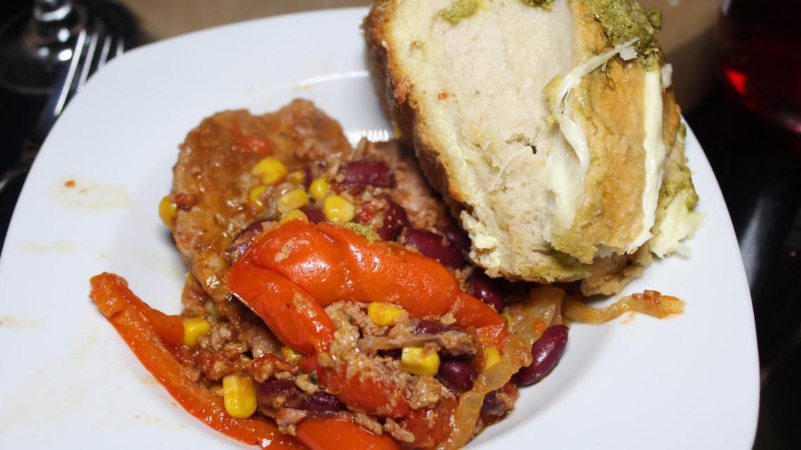Chili con carne Schichtfleisch
