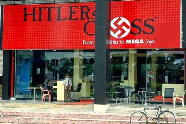 Cross Cafe, Mumbai - Decor inspired by Nazi propaganda