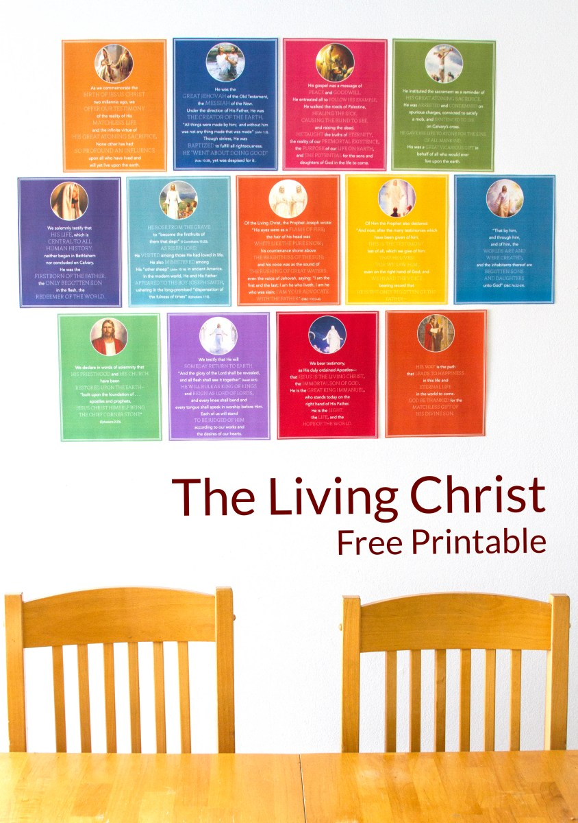 """The Living Christ"" free printable"