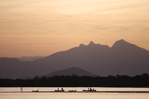 Pôr do sol em Guaratuba