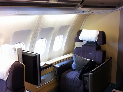 Primeira classe Lufthansa