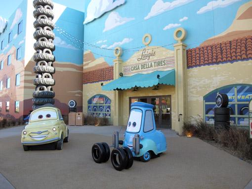 Carros no Art of Animation Resort
