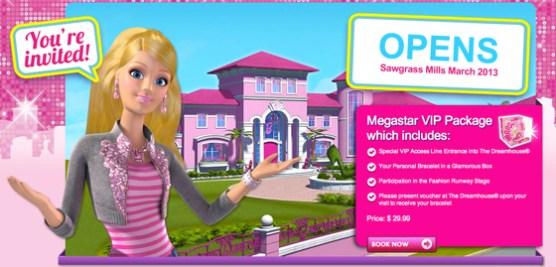 Casa da Barbie no Shopping Sawgrass Mills