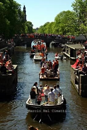 O dia da rainha em Amsterdã
