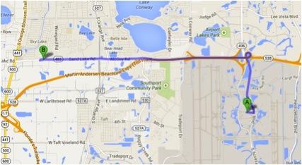 Mapa Target aeroporto Orlando