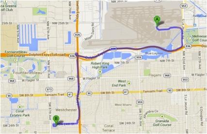 Mapa walmart Miami
