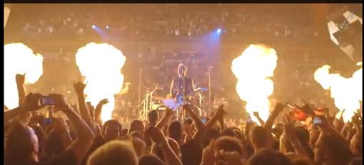Reprodução do vídeo de divulgação do Tour do Metallica.