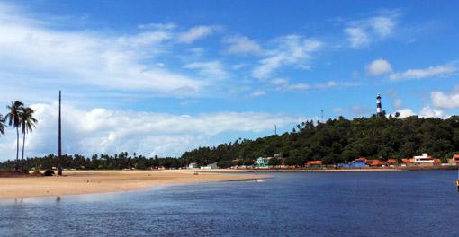Vista da balsa para Porto de Pedras Alagoas