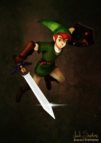 Peter Pan como Link de Zelda