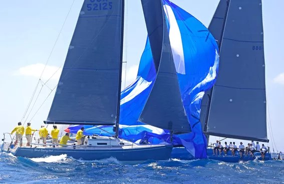 The 2014 Gill Commodore's Cup was raced today in a fresh 15 to 18 knots of breeze. Forty-four boats competed and it was easy to tell who was just starting to sail for the season by the sail handling.Bob Grieser/OUTSIDEIMAGES.COM Outside Images Photo Agency