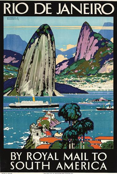 Cartaz antigo Rio de Janeiro