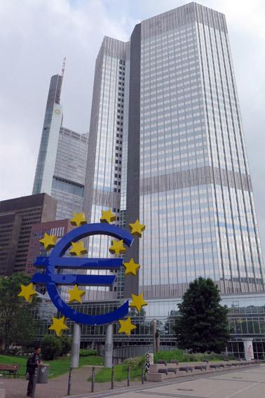 Simbolo do Euro Frankfurt
