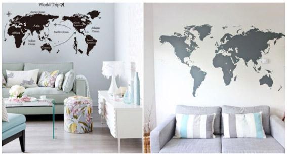 adesivo mapa decoracao