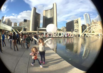 Toronto com crianca