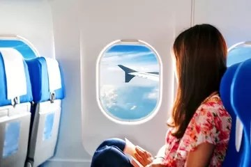 janela de aviao