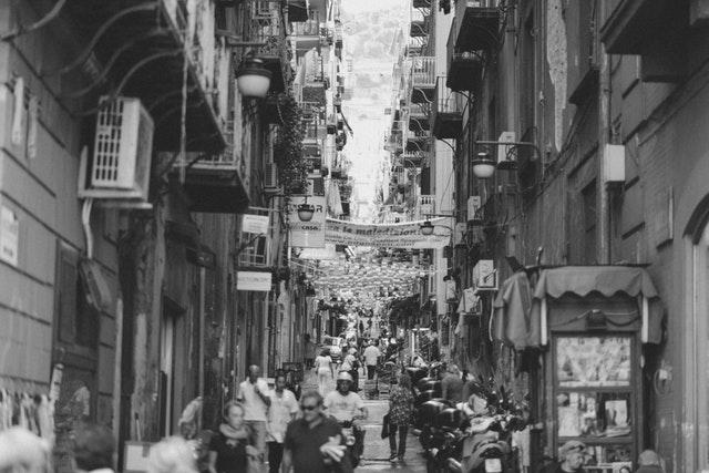 italianos na rua