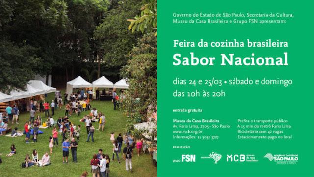 Feira Sabor Nacional no MCB
