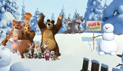Floresta Masha e o Urso by Fun4Family