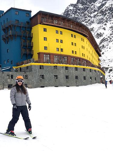 Vitória na estação de esqui