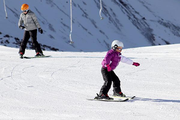 Portillo aula esqui Gi e Vi